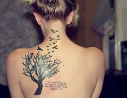 bird tattoos for tree and bird design for back