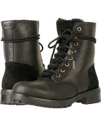 ugg kilmer lace up leather deals on ugg kilmer exposed fur black s boots