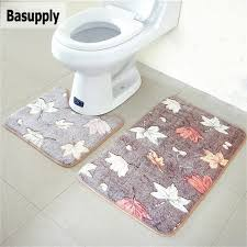 Memory Foam Rugs For Bathroom Basupply 2pcs Set Coral Fleece Memory Foam Mat Bathroom Rug