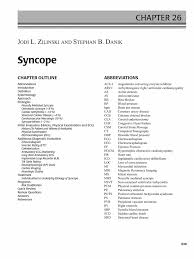 key words on resume syncope springer