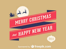 merry and happy new year vector free