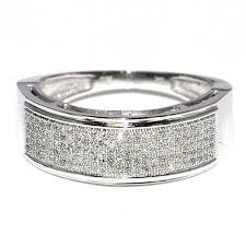 gold pave rings images 14k white gold wedding ring for men 0 33ct pave st 7 6mm wide jpg