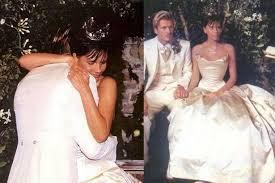 beckham wedding dress david and beckham gushing messages on their 17th