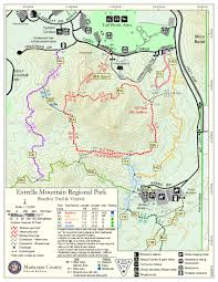 Mt Lemmon Hiking Trails Map Baseline Trail Estrella Mtn Rp U2022 Hiking U2022 Arizona U2022 Hikearizona Com