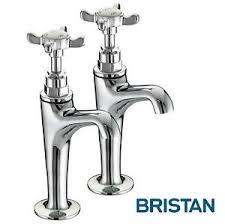 BRISTAN  PAIR HIGH NECK KITCHEN SINK PILLAR TAPS TRADITIONAL - Kitchen sink pillar taps
