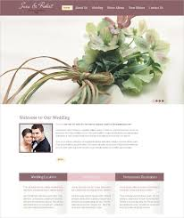 free personal wedding websites 37 free wedding website themes templates free premium templates
