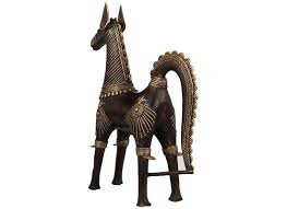 buy handcrafted dhokra art horse figurine home décor