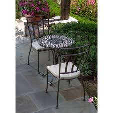 Wrought Iron Bistro Chairs Furniture Of America Spector Blue Mosaic Bistro Chairs Set Of 2