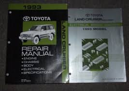 1993 toyota land cruiser service shop repair manual set service