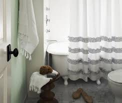 Ruffled Shower Curtains Add Frills To Your Bathroom Diy Ruffled Shower Curtain