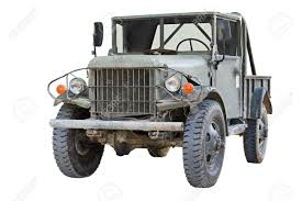 old military jeep old dodge m37 military truck isolated on white background stock
