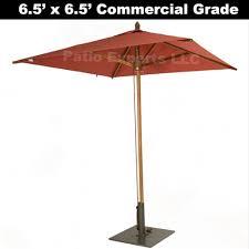 5 Foot Patio Umbrella by 6 5 Foot X 6 5 Foot Square Commercial Market Umbrella Large