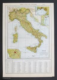 Italy Map Cities And Towns by Countries Europe Vintage Maps