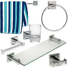 bath accessory sets with toilet roll holders ebay