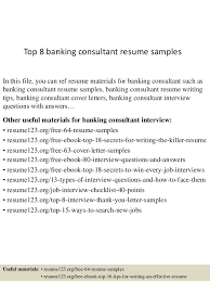 Sample Resume For Bankers by Top 8 Banking Consultant Resume Samples 1 638 Jpg Cb U003d1431512358