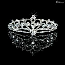 Silver Accessories In Stock Crystals Snowflake Tiaras In Silver Glamous Hair Bridal