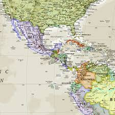 Trinidad World Map by Giant Classic World Map Mural By Maps International