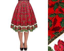christmas skirt christmas tree skirt pleated midi skirt