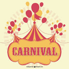 carnival marquee with balloons background vector free download