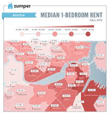 Boston Neighborhood Map by The Cheapest And Most Expensive Boston Neighborhoods For Renters