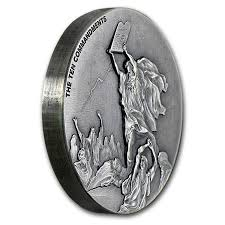 fourth of six bible coins from scottsdale mint features moses and