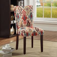 Multi Coloured Chairs by Homepop Parson Deluxe Multi Color Ikat Dining Chairs Set Of 2
