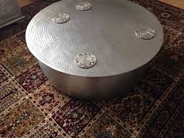 habitat orrico hammered aluminium coffee table 3 months old cost