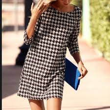 houndstooth dress h m h m houndstooth shift dress from elisabeth s closet on poshmark