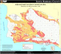 Ca Zip Code Map by Cal Fire Santa Barbara County Fhsz Map