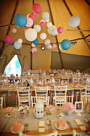 tipi wedding paper lanterns wedding colours tipi