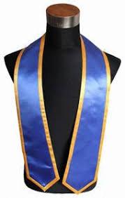 graduation stoles royal blue trims graduation stole