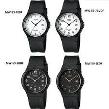 Jam Tangan Casio Karet jual jam tangan casio analog mw 59 mw59 original black jam karet