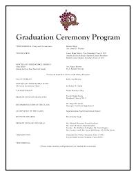 ceremony program templates designs inexpensive free graduation ceremony program templates