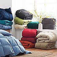 Down Comforter Made In Usa Organic Cotton Down Comforter The Company Store