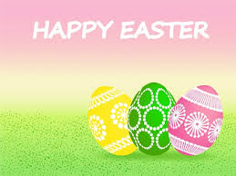 easter card background design with ornamental eggs free vector in