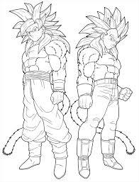 Facile dragon ball gt goku et vegeta  Coloriage Dragon Ball Z