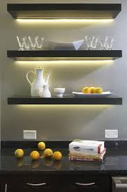 floating kitchen shelves with lights light up your kitchen with led lights smart ideas