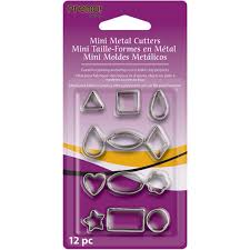 sculpey 12 premo metal clay cutters mini