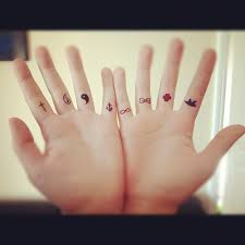 ceker small finger tattoos
