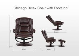 sleek brown leather recliner chair with footrest chicago ez