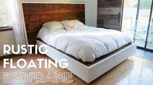Floating Bedframe by Diy Rustic Floating Bed Build Youtube