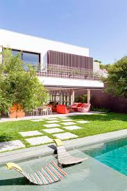 house with swimming pool small modern house with pool backyard swimming and lawn concrete