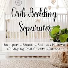 Crib Bedding Separates Baby Bedding Baby Crib Bedding Custom Baby Bedding Crib