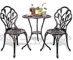 Square Bistro Table And Chairs Amazon Com K U0026a Company Patio Bar Bistro Set Furniture Table Pub