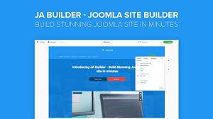 ja builder introduction build stunning joomla site in minutes ja builder introduction build stunning joomla site in minutes