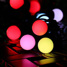 decorative lights for home 16ft 50led rgb globe christmas lights sync color changing fairy