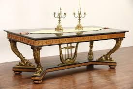 Coffee Table Granite Sold Italian 1930 U0027s Vintage Hand Carved Dining Or Library Table