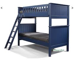 Campground Collection Twin Over Twin Bunk Bed In Navy Blue Kids - Navy bunk beds