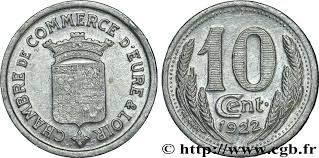 chambre de commerce de l eure chambre de commerce d eure loir 10 centimes fnc 237844 nécessité