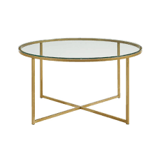 gold and glass table walker edison furniture company 36 in glass gold coffee table with